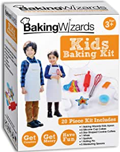 Baking Wizards Deluxe Kids Baking Set With Apron.