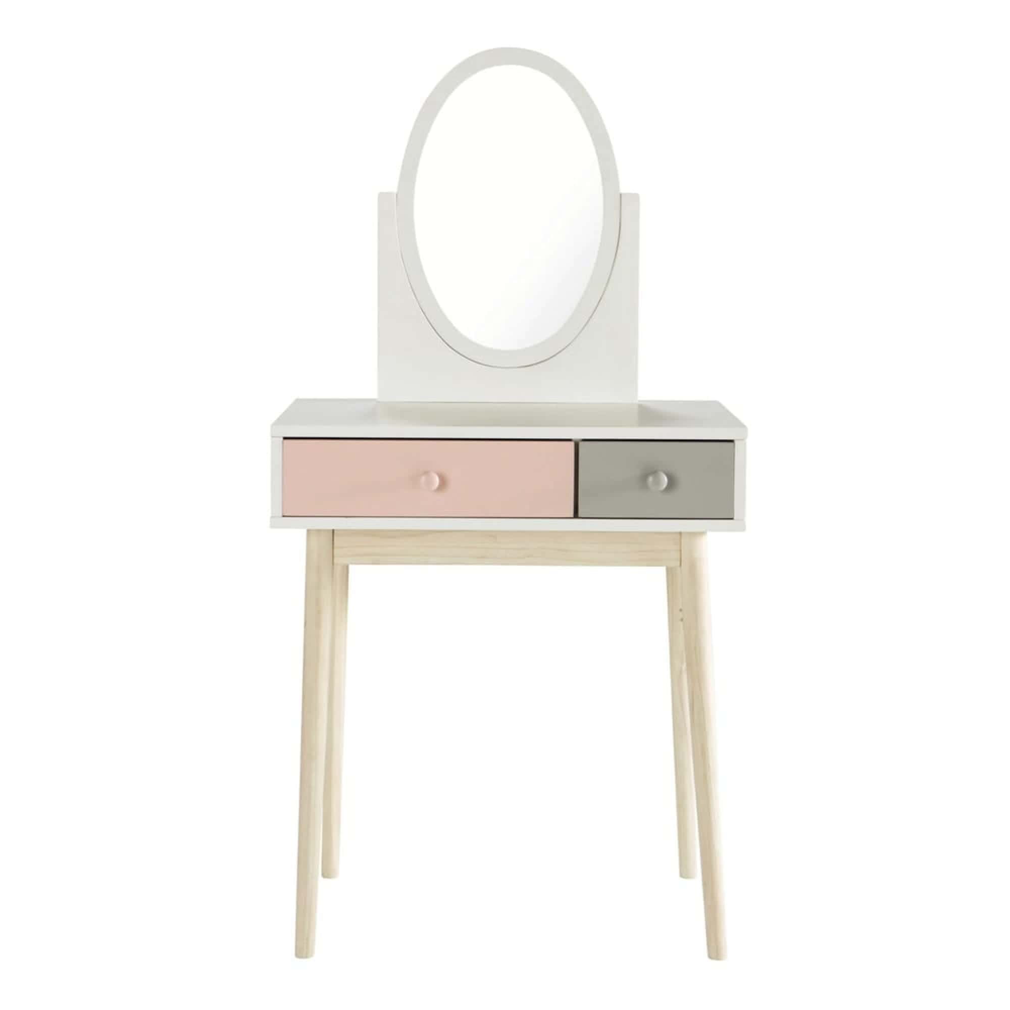 BLUSH Pink and White Vintage Dressing Table