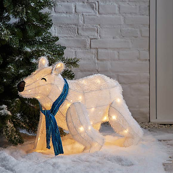Dunelm Light Up Polar Bear.
