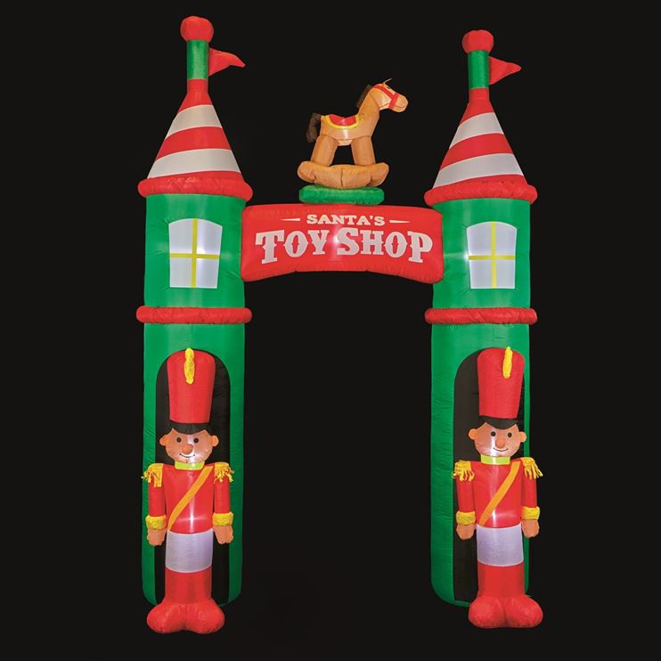 B&Q Three Metre LED Christmas Inflatable Nutcracker Toyshop Archway.