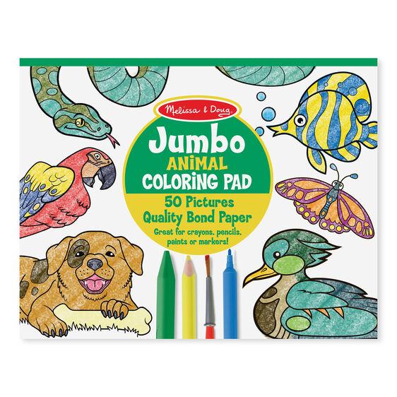Melissa & Doug Jumbo Colouring Pad, Animals