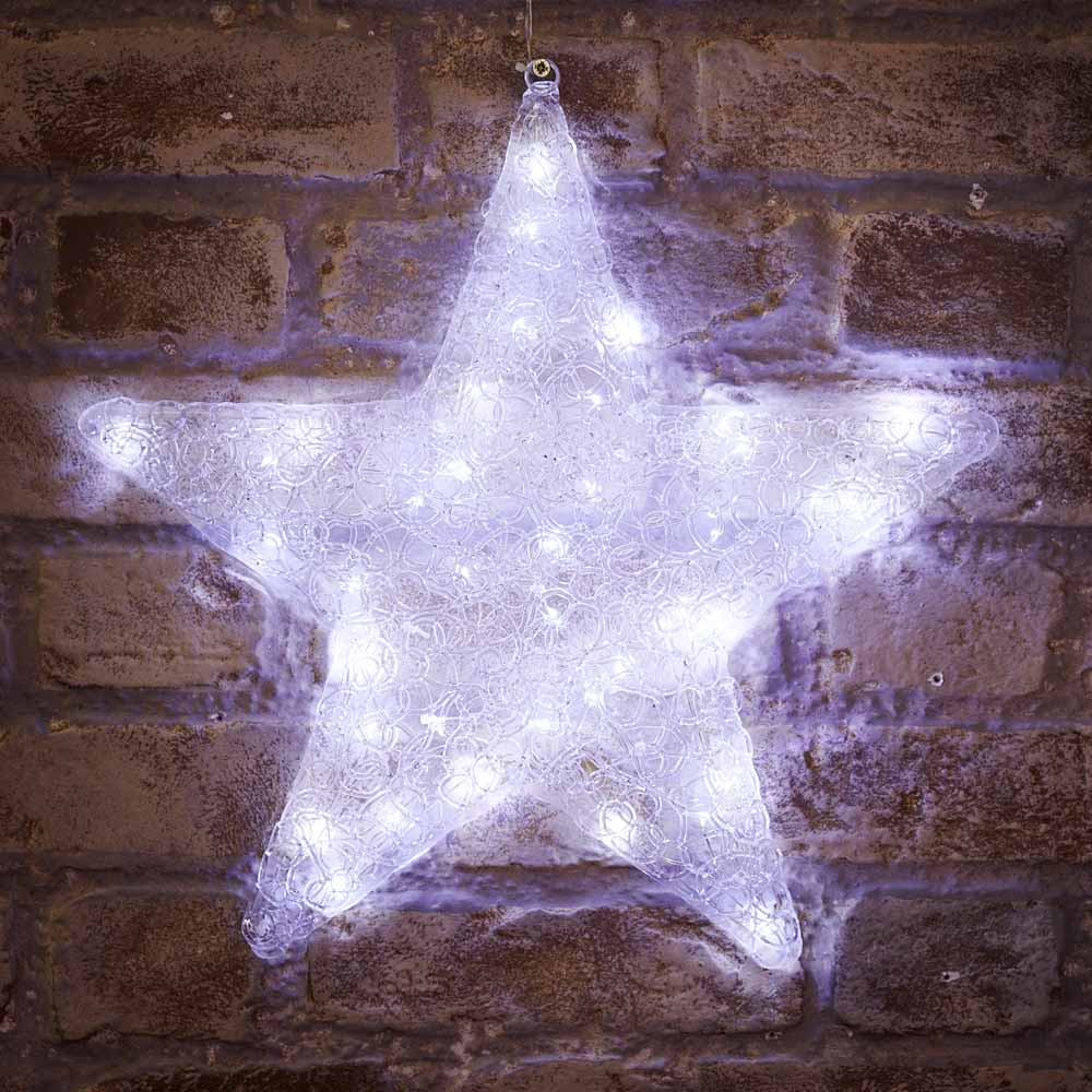 Wilko Outdoor Christmas Star Lights.