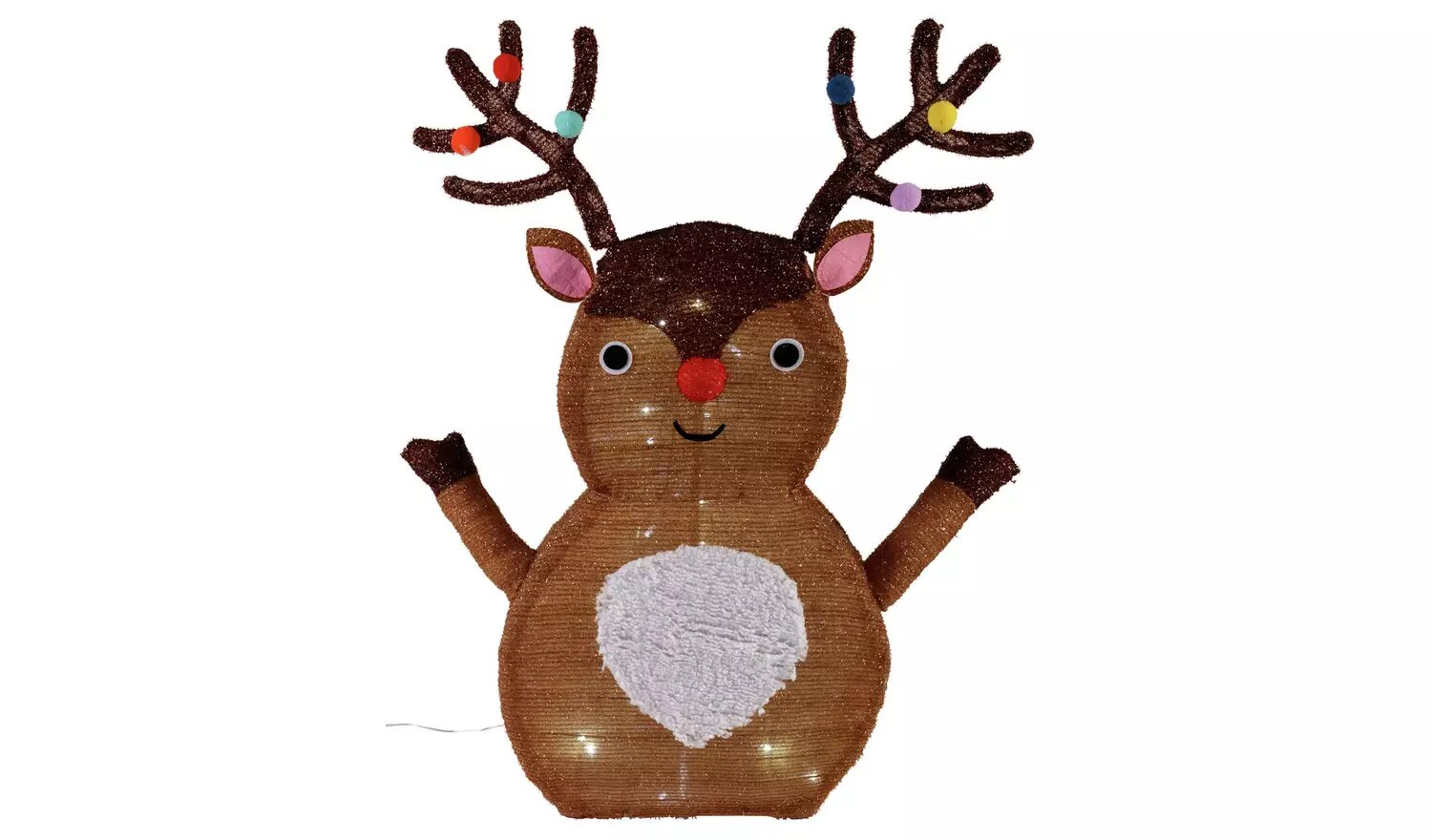Argos Home Pop Up Light Up Rudolph.