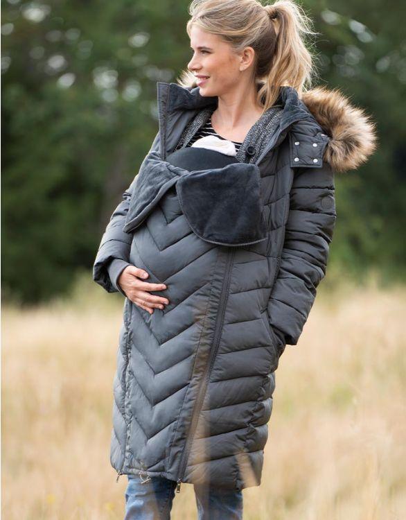 Seraphine Slate Eco-Down 3 In 1 Winter Maternity Coat
