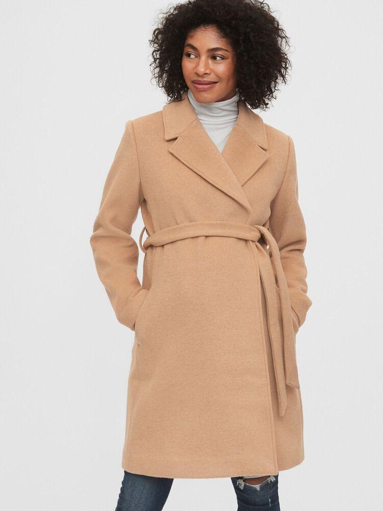 GAP Maternity Wool Blend Wrap Coat