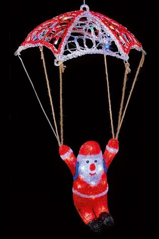 80cm Acrylic Parachute Santa.