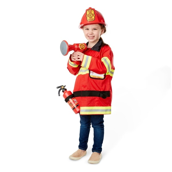 Melissa & Doug Fire Chief Dress Up Costume Set