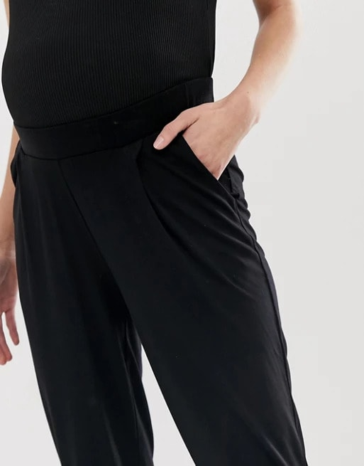 ASOS Design Maternity Under The Bump Tall Ultimate Jersey Peg Trouser