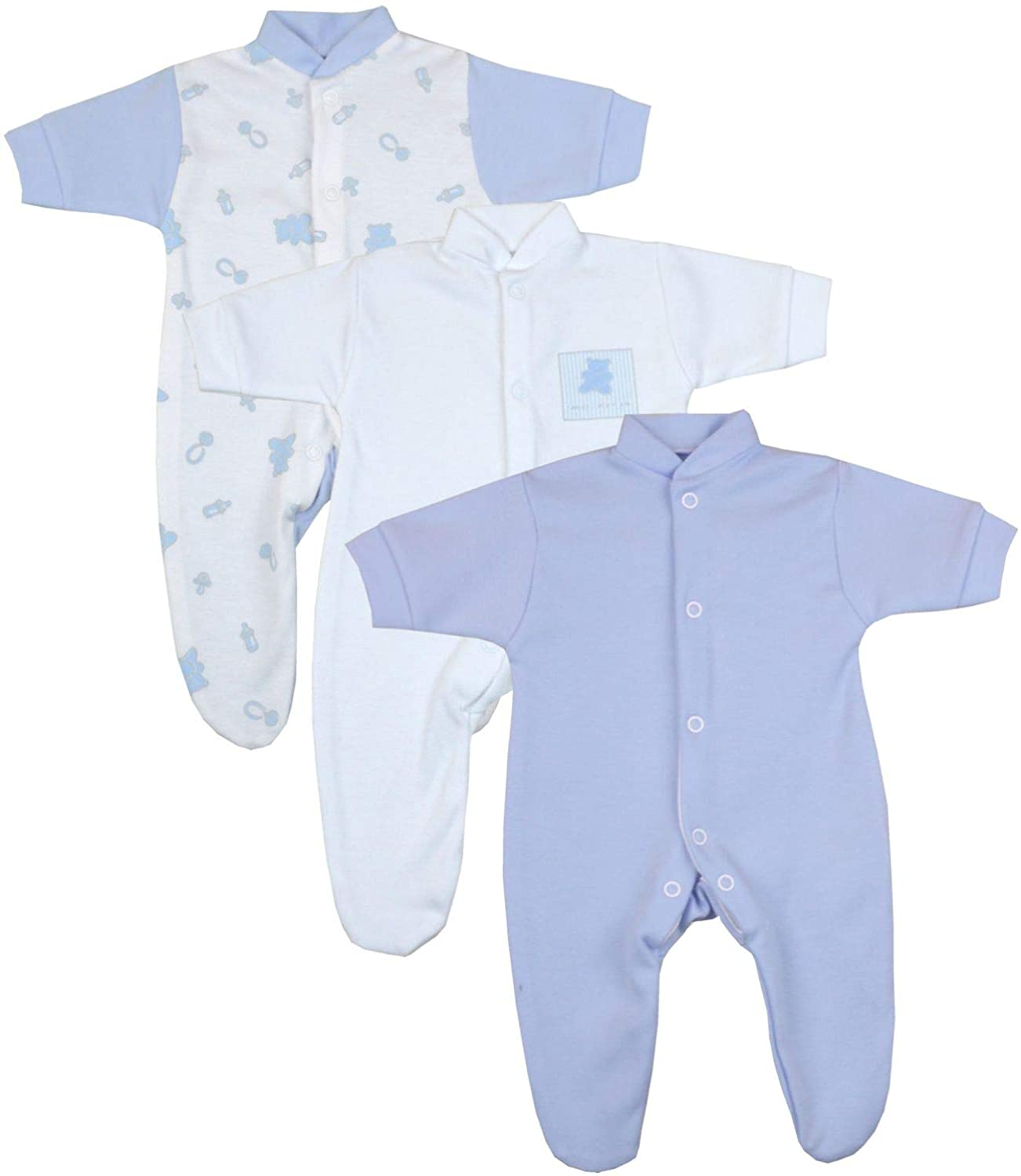 Early/Premature Baby Sleepsuits Pack of 3