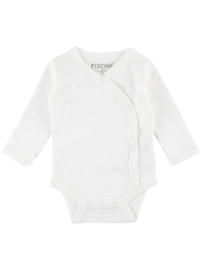 Fixoni Organic Cotton Cream White Long Sleeve Vest - Little Mouse
