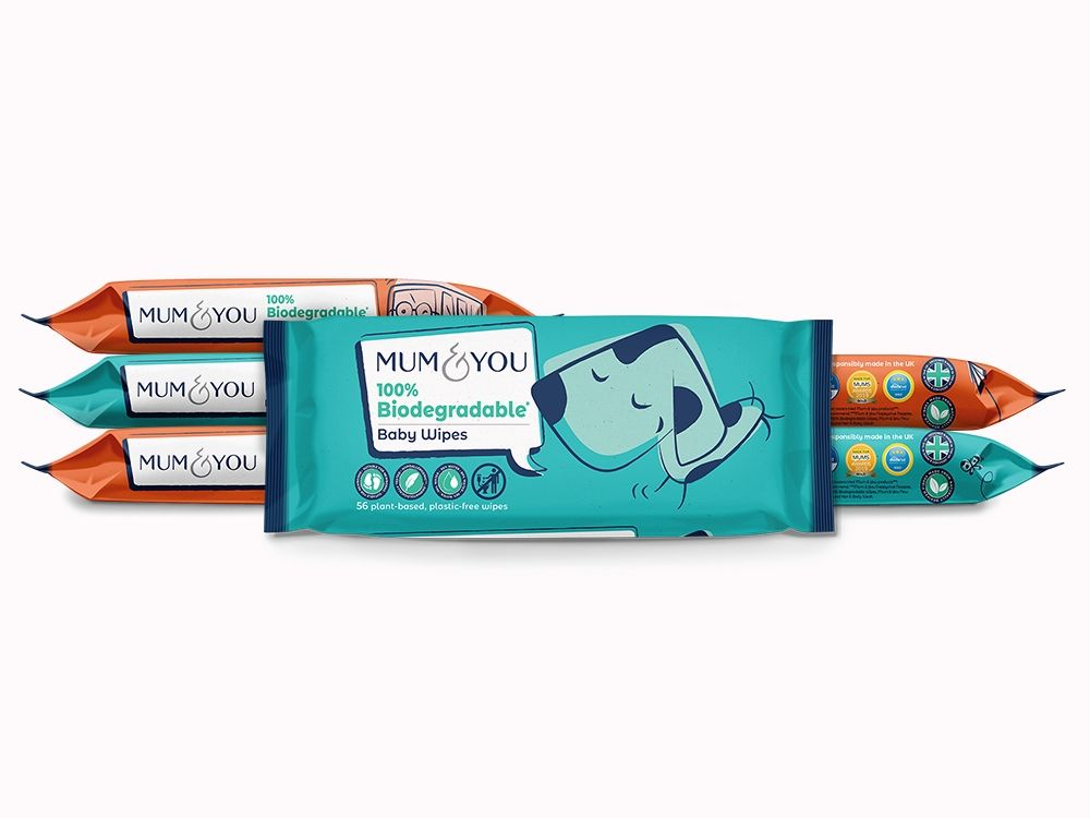 Mum&You 100% Biodegradable Baby Wipes
