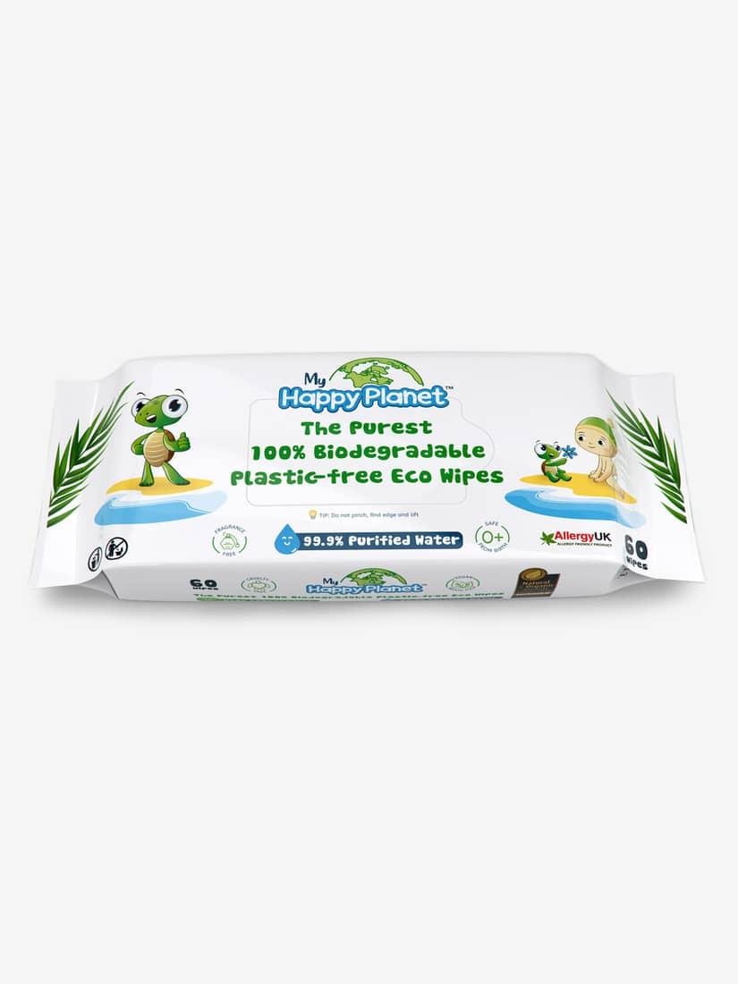 Aquaint Happy Planet 100% Biodegradable Plant & Water Wipes - Jojo Maman Bebe