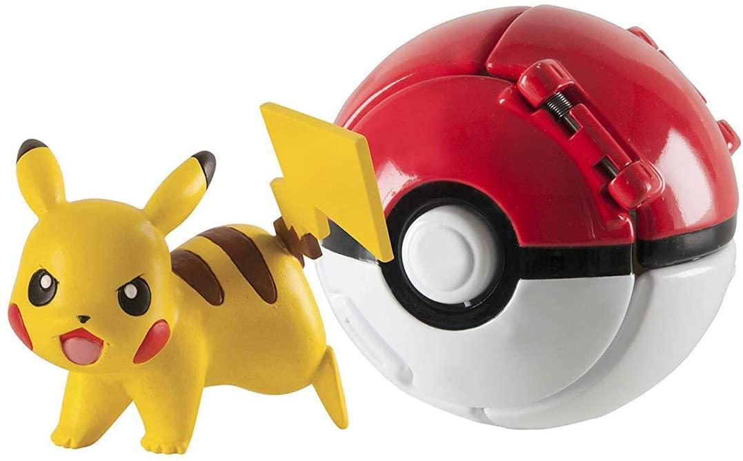 AHERIC Pokémon Throw N Pop Great Ball With Pokémon Figures.
