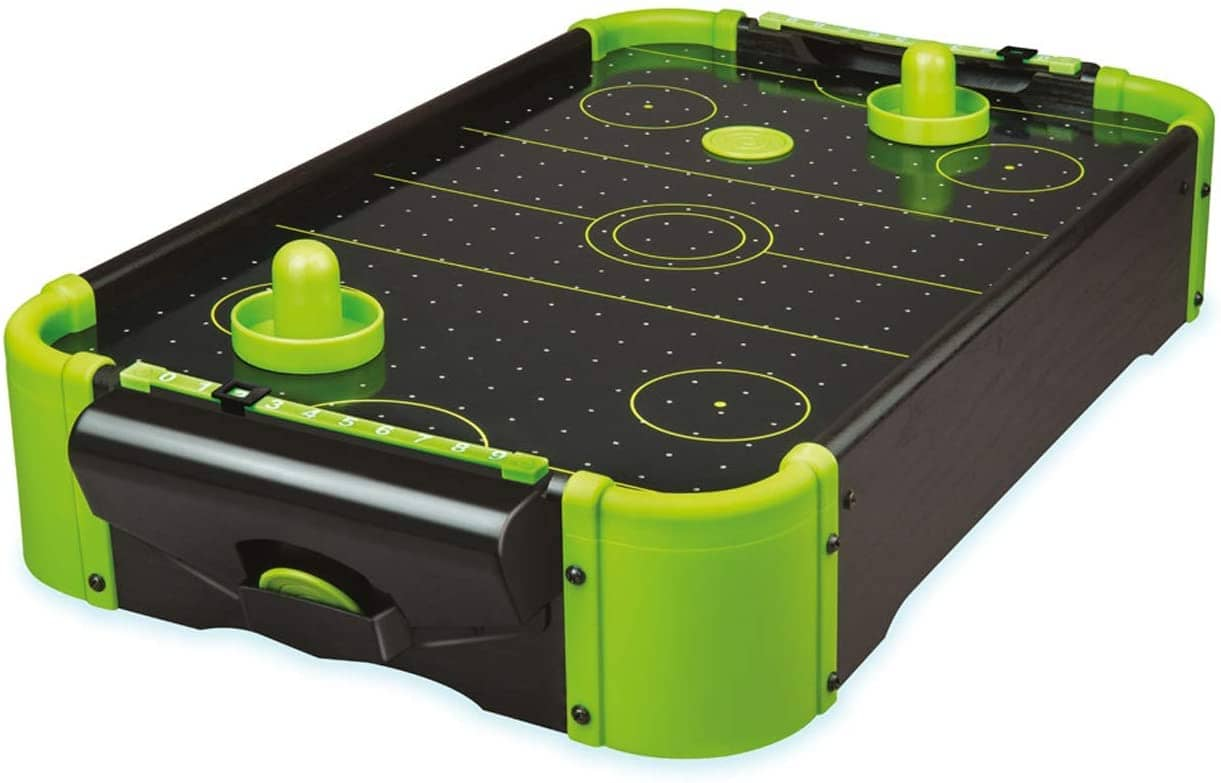 FunTime Gifts Neon Table Top Air Hockey Game