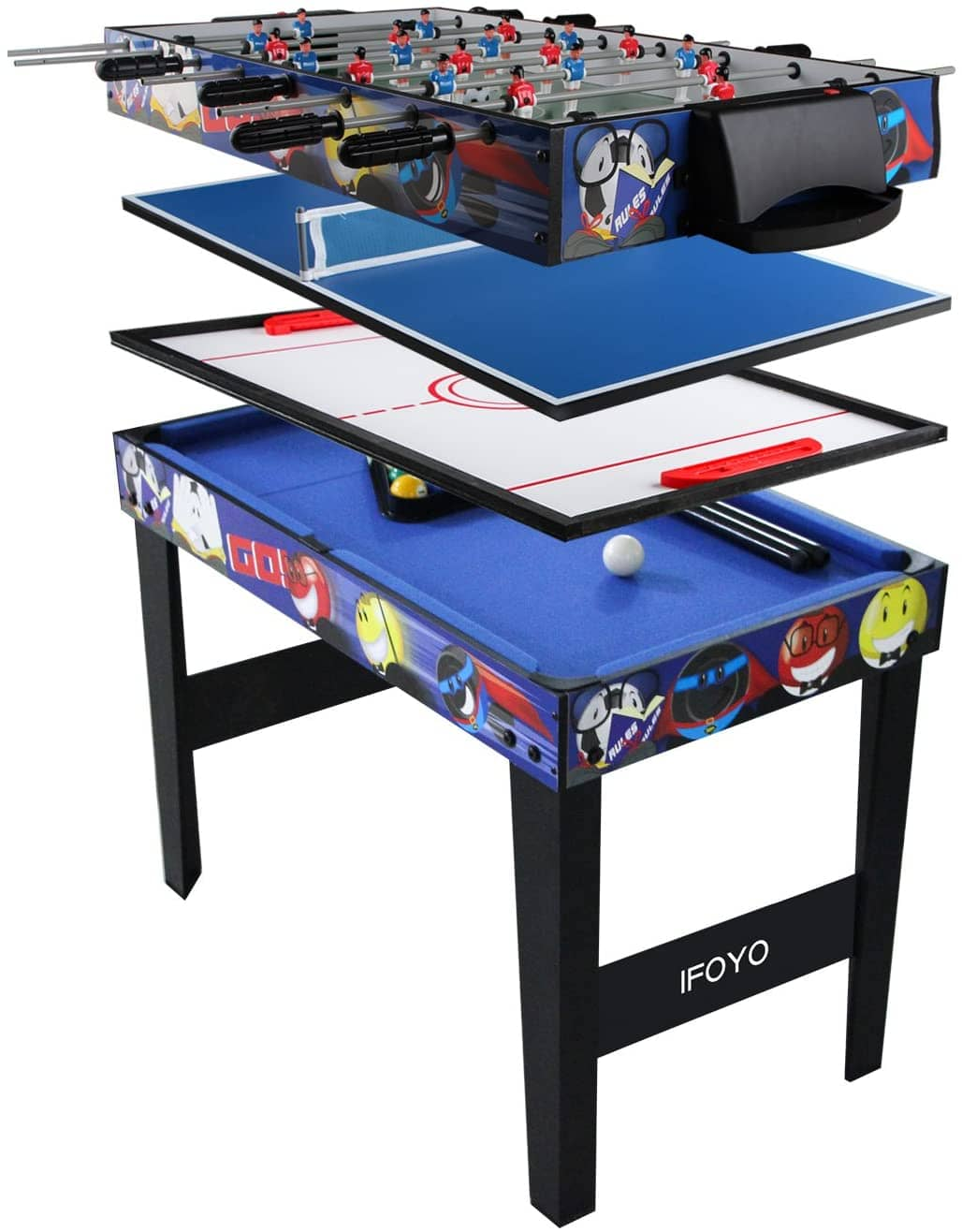 IFOYO Multi-Function 4 In 1 Steady Combo Game Table