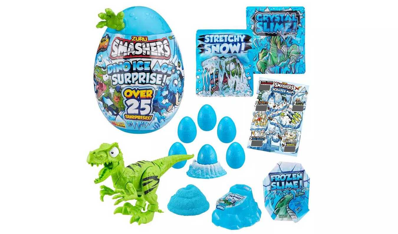 Smashers Dino Ice Age Surprise Egg With Over 25 Surprises!