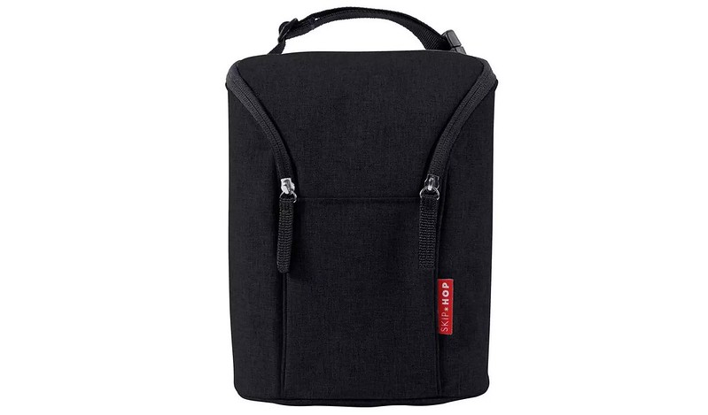 Skip Hop Double Bottle Bag - Black.