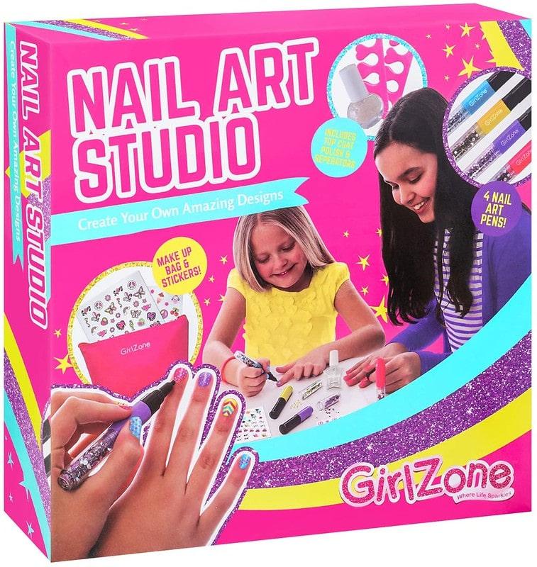 GirlZone Unicorn 16 Piece Nail Art Kit