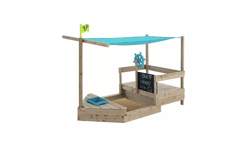 TP Ahoy Wooden Play Boat Sand And Water Pit