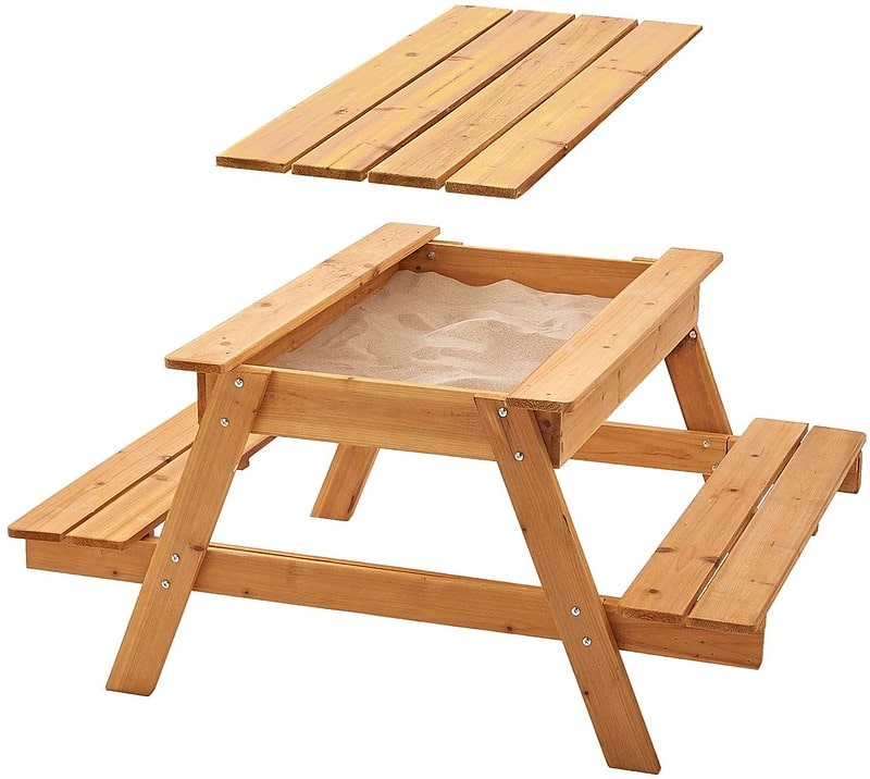 Garden Games Sandpit Picnic Table
