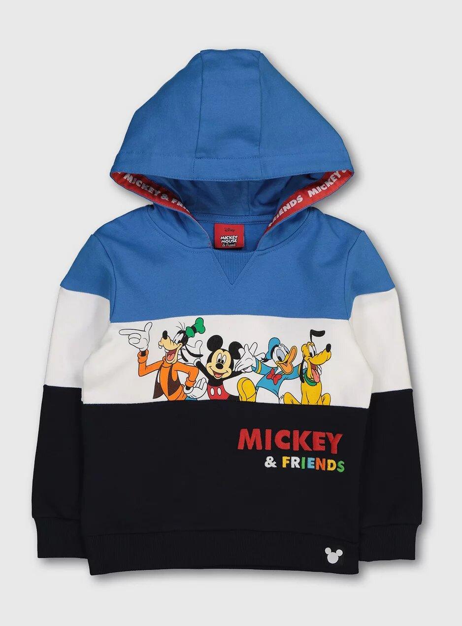 Tu Disney Mickey & Friends Blue Hoodie.