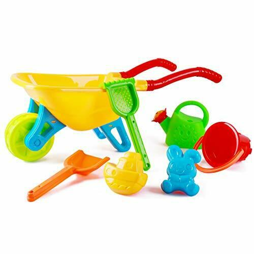 deAO Kids Wheelbarrow Gardening And Seaside Beach Play Set.