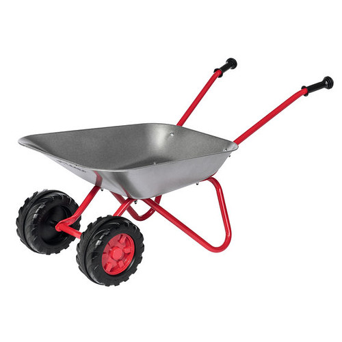 Rolly Toys Metal Wheelbarrow With Double Wheel.