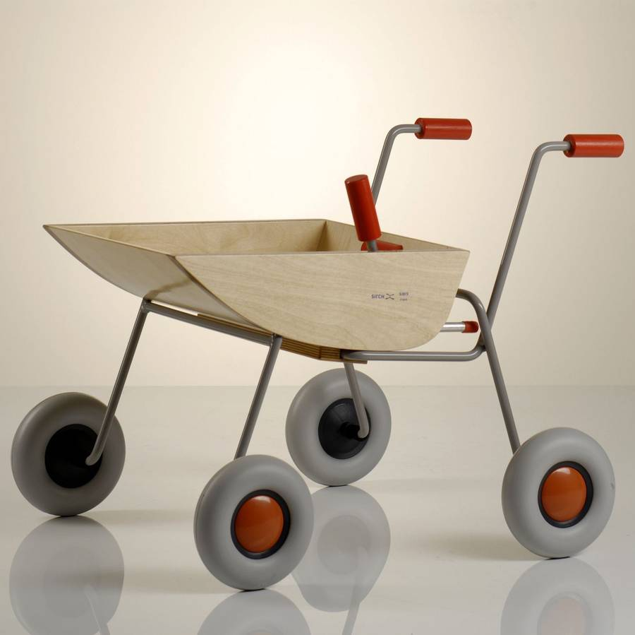 Lullabuy Wooden Wheelbarrow Toy.