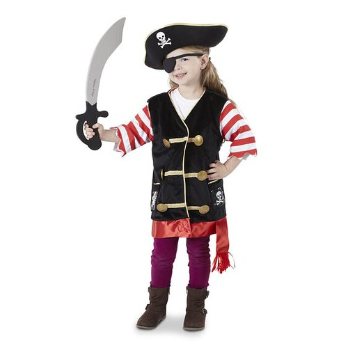 Melissa & Doug Pirate Role Play Costume Set.