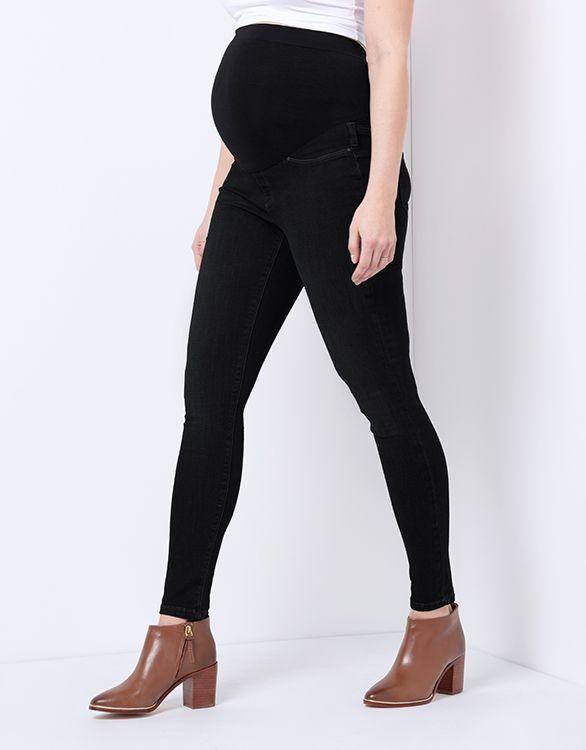 Seraphine Black Over Bump Super-Skinny Maternity Jeans
