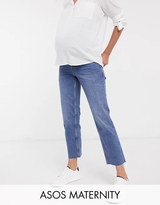 ASOS Design Maternity High Rise Stretch Kick Flare Jeans