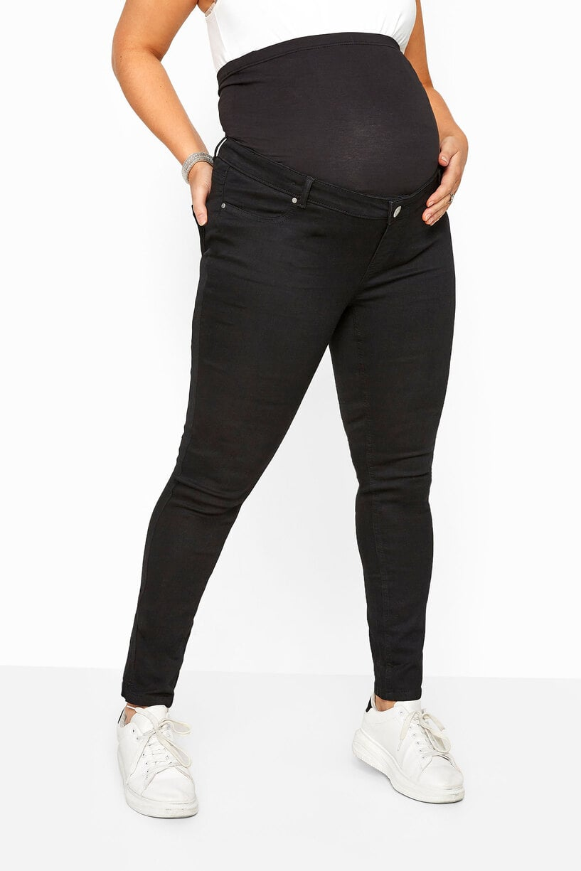 Bump It Up Plus Size Maternity Skinny Jeans