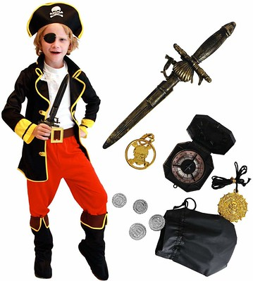 Tacobear Pirate Costume for Kids with Pirate Accessories.