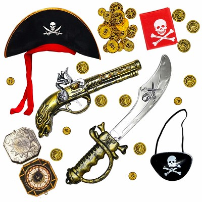 Robelli Kids Pirate Fancy Dress Costume Accessory Set.