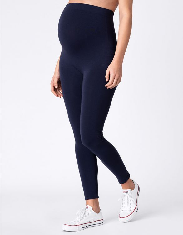 Seraphine Navy Blue Bamboo Maternity Leggings