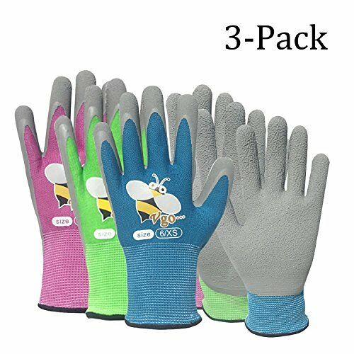 Vgo Multicoloured Garden Gloves.