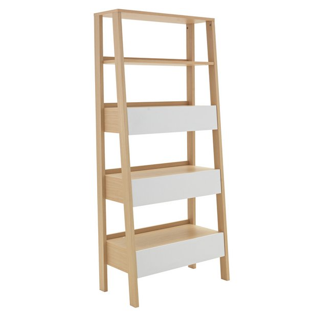 Argos Home Essel 5 Shelf Leaning Bookcase.