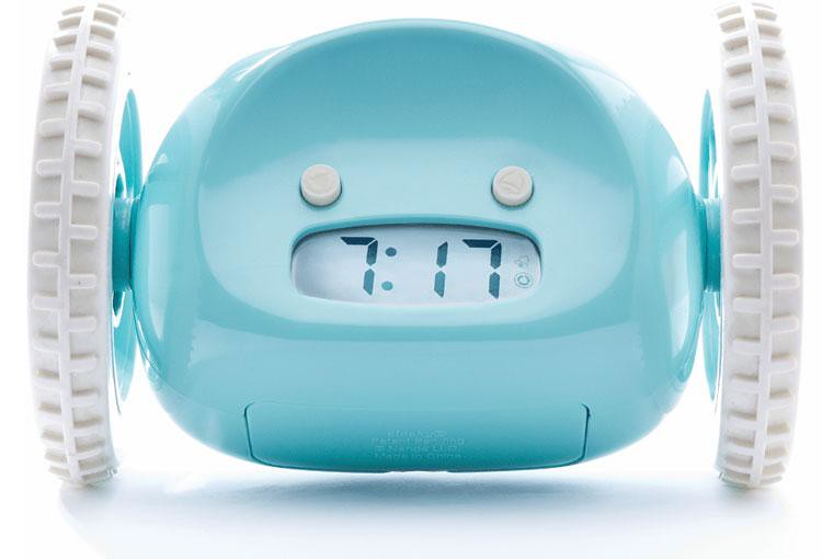 Clocky Alarm Clock on Wheels.