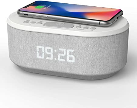 i-box Wireless Charging Radio Alarm Clock.