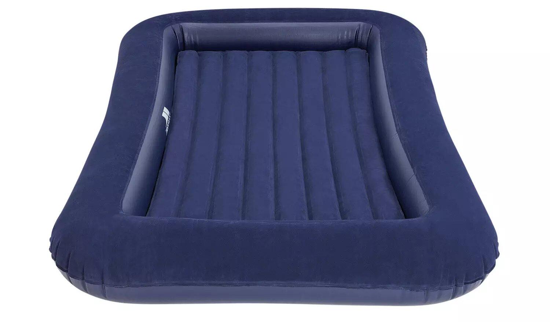 Trespass Single Flocked Junior Air Bed.