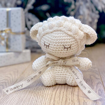 Personalised Baby Lamb Soft Toy, Oh My Giddy Aunt!