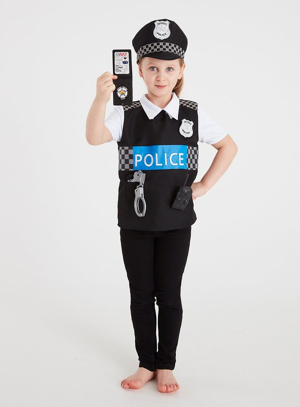 TU Police Officer Reversible Costume Set