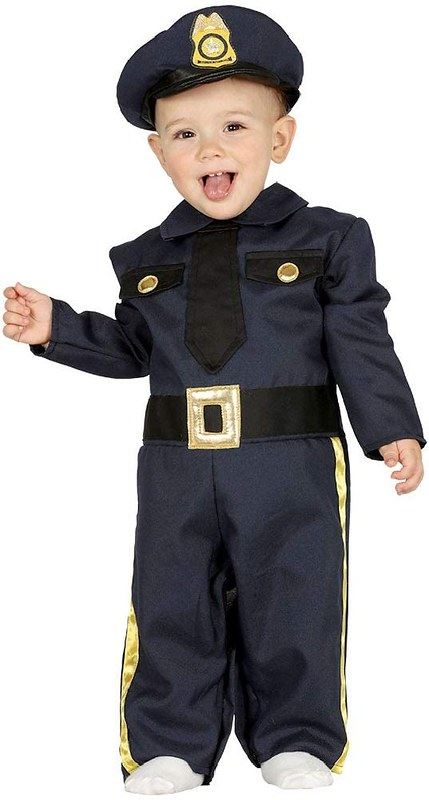 Fancy Me Baby Police Officer Costume