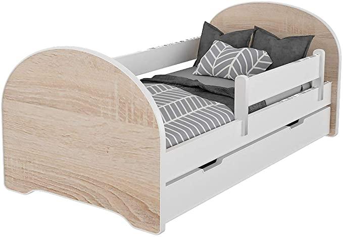 Meblex Children Toddler Bed With Drawers & Safety Foam Mattress.