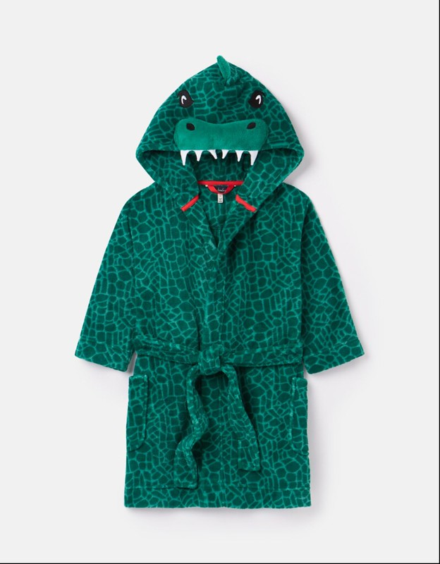 Joules Mark Printed Fleece Character Dressing Gown.