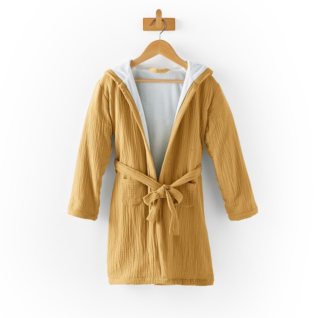 La Redoute Kumla Child's Hooded Cotton Muslin Bathrobe.