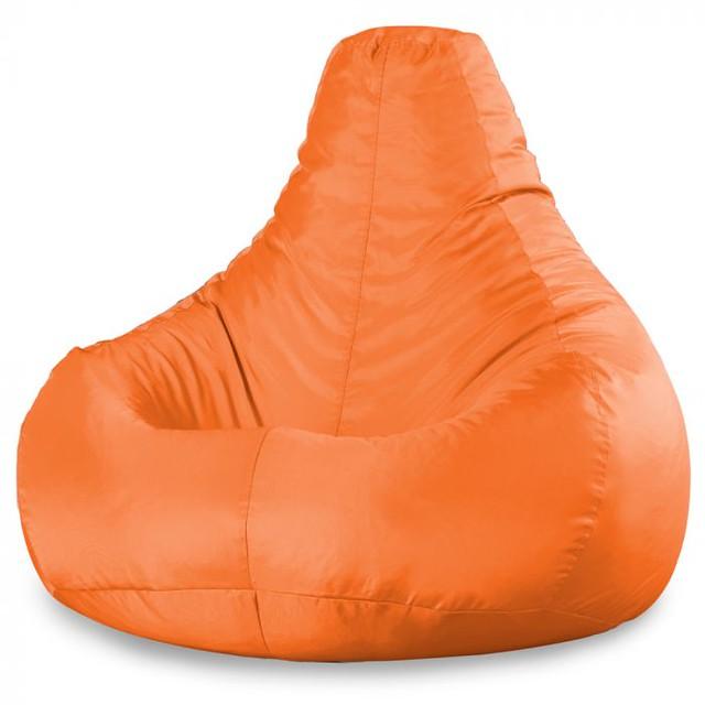Bean Bag Bazaar High Back Recliner Chair, Orange.