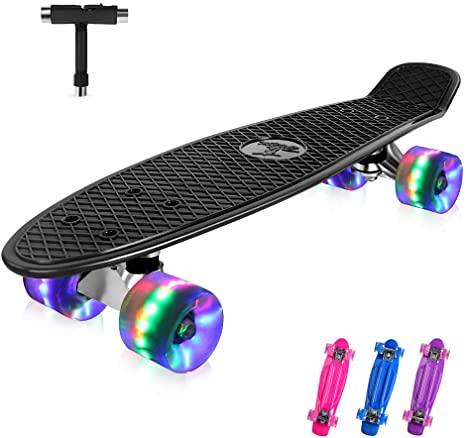 Beleev Mini Cruiser Retro Skateboard