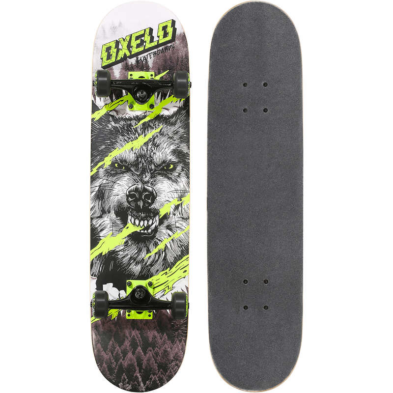 Oxelo Kids' 8 - 12 Years Skateboard Mid 500