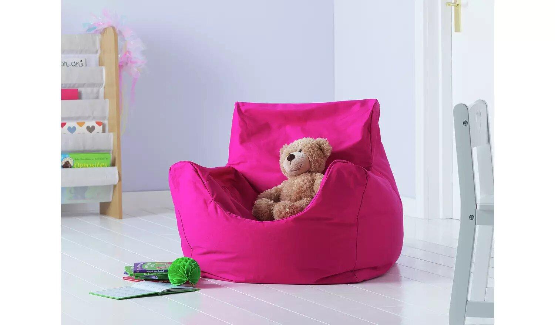 Argos Home Kids Funzee Pink Bean Bag Chair.